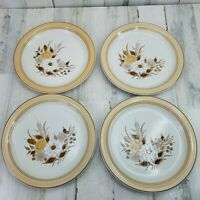 Set of 4 Crowning Fashion Johann Haviland Tawny Willows Dinner Plates Japan