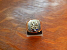 FOE 10k Yellow Gold Fraternal Order Of The Eagles Enamel Ring Size10.25