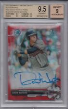 DREW WATERS ROOKIE 2017 Bowman Chrome RED WAVE REFRACTOR #5/5 AUTO 9 BGS 9.5 GEM