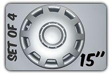 """Juego de 4 de 15 """"rueda Adornos cubierta, Llantas, Hub, tapas de ajuste Ford Transit Custom 2012 + # 6"""