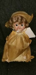 """ANTIQUE VINTAGE BETTY BOOP CELLULOID DRESSED 7"""" DOLL ORIGINAL CLOTHES & WIG"""