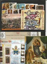 Vaticano 2012 annata completa composta da23 val. 7 bf 1 libretto