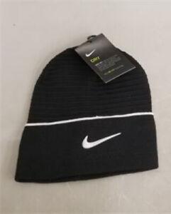 Nike Cuffed Beanie Stocking Hat CW6328-010 Dri-Fit Training - Black/White - NEW