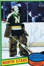 Gilles Meloche 1980 Topps Autograph #47 North Stars