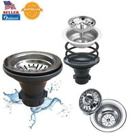 """Chrome Plated Kitchen Sink Strainer Assembly Stainless Steel Universal 3-1/2"""""""
