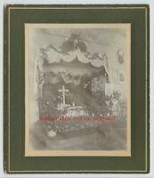 POMEROY, WASHINGTON - 1900s CHURCH INTERIOR - VTG CABINET CARD PHOTO