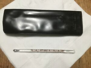 Vintage FAICHNEY dynacor Michigan USA  Oral Fahrenheit Fever Thermometer w/ Case
