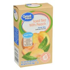 Great Value Decaffeinated Iced Tea with Peach Sugar Free Low Calorie Drink Mix