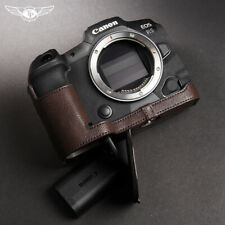 TP Handmade Canon EOS R5 R6 Half Case Camera Body Genuine Leather Retro Cover