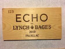 1 Rare Wine Wood Panel Echo Lynch Bages Vintage CRATE BOX SIDE 3/18 508