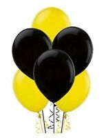 Yellow and Black Latex Balloons helium air quality for birthday wedding ceremony