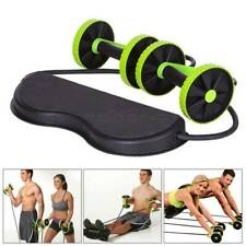 Abdominal Power Roll AB Trainer Waist Slim Exercise Double Wheel Gym Fitness UK