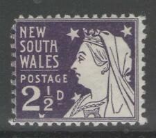 Mint Hinged New South Wales Australian Stamps