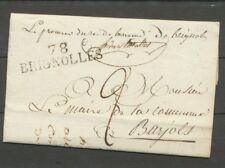 1819 Lettre Marque Linéaire 78 Brignolles VAR(78) 44*12 + sceau au dos X1989