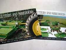 2 John Deere Cutters & Shredders Brochures                                    b4