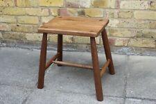 "Handmade Wooden Stool 17"" Tall  Oak Top Philippine Mahogany Legs"