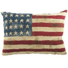 "Stars and Stripes USA American Flag Tapestry Front Filled Cushion 18x13"" 46x33cm"