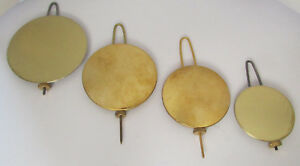 New Adjustable Brass & Lead Antique Reproduction Pendulum - Choose from 4 Sizes!