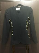 Elvin Bell Wool Jacket With Gold Chain Embellishment -- Size 12