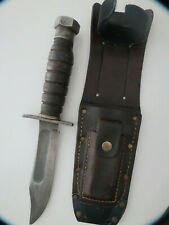 Vintage Camillus Pilots Survival Knife 2-1971 Vietnam Fixed Blade With Sheath