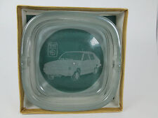 Vintage souvenir  Ashtray cigar Fiat Polonez Rare heavy  glass logo collectable