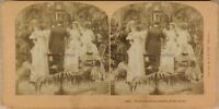 Retro IN Scena Mariage Foto Stereo Vintage Albumina 1897