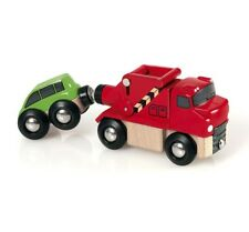 BRIO Wooden Magnetic Vehicles for Train Tracks - Car and Tow Truck
