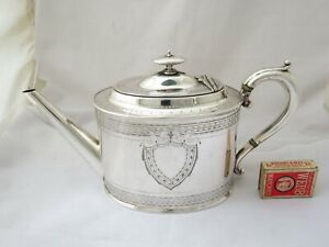 LARGE VICTORIAN SILVER PLATED TEA POT - ATKIN BROTHERS 1870'S