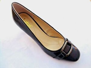 LOTUS MIRRY PATENT NAVY LEATHER SMART COURT SHOES UK 7. RRP £59.99