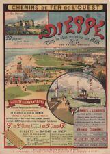 DIEPPE, FRANCE, CHEMIN DE FER DE L'OUEST French Travel Poster. 250gsm A3 Print