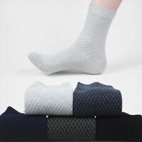 Mens Bamboo Fiber Socks Casual Business Antibacterial Deodorant Breathable Socks