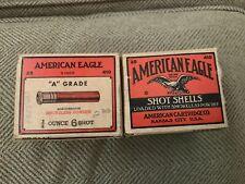 2 American Eagle 12 ga 1941 Shotgun Shell Box, empty