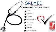 STETHOSCOPE MEDICAL SERIES DUAL HEAD FOR ADULT BLACK  BROAD RANGE