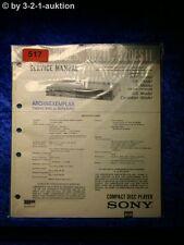 Sony Service Manual CDP 303ES / 302II / 520ESII CD Player (#0517)