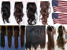 Long Straight/Wavy/Corn style Ponytail Pony Hair Extension-USA Fast Shipping