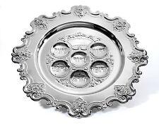 Silver Plated SEDER PLATE......... Passover judaica matza pessach pesach Jewish