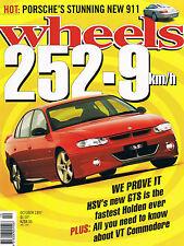Wheels Oct 97 996 911 HSV Chev V8 SLK V6 VT Golf GTI Audi Turbo Corboda Magna