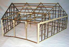 PACIFIC COAST 3 STALL ROUNDHOUSE FRAME O On3 On30 Railroad Structure Kit DF502