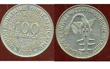 ETATS DE L'AFRIQUE DE L'OUEST  100 francs  1977  ( bis )