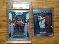 2019-20 Panini Prizm Draft Picks Ja Morant Blue Wave/299 BGS 9.5 & RJ BARRETT RC