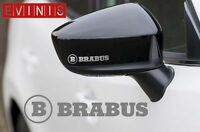 MERCEDES BRABUS SILVER VINYL SYMBOL MIRROR DECALS STICKERS GRAPHICS x2
