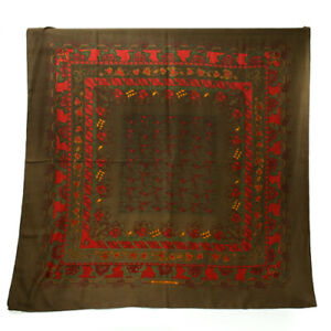 Hermes Carre 140 Cashmere Silk Stall Large Format Women's Multicolor Scarf
