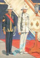 Royal Marines band sergeant & Sentry  A Uniforms Of the Royal Marines card 1998