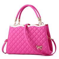 Women's PU Leather Handbags Satchel Shoulder Bags Tote Messenger Crossbody Purse