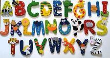 En bois jungle animal alphabet lettres personnalisé chambre mur porte nom