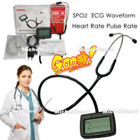 CE FDA LCD Display Multi-Function Electronic Visual Stethoscope, SPO2+ECG Wave
