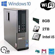Dell OptiPlex SFF Fast cheap Desktop Core i5 @ 3.10 GHz 8GB 2TB HDD Windows 10