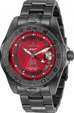 Invicta Pro Diver Red Gunmetal Swiss Quartz Men's SS Watch 33568