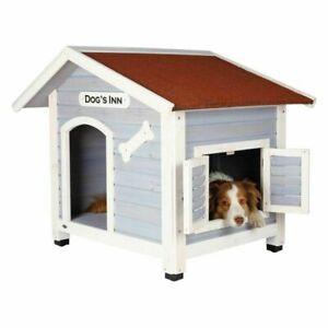 Dog Kennel Dog`s Inn With Saddle Roof Practical Shelter that Enhances Garden