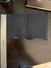 NWT TOM FORD Navy Grained Leather Passport Holder Travel Wallet